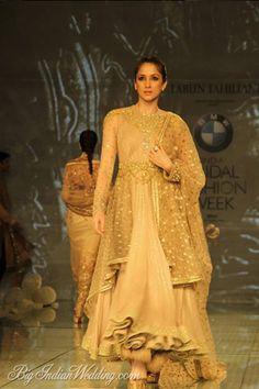 Tarun Tahiliani designer suit for the wedding trousseau