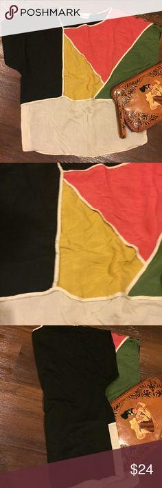 Vintage Color-block Geometric Top Vintage Color-block Geometric Top w/ solid black back • Clutch not included. Tops