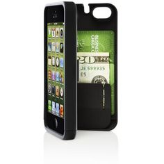 The all-in-one protective phone case with hinged back for built-in storage that clicks shut to keep your personal items—cash, credit card, i.d.—securely in one place.