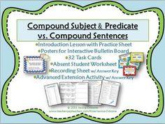 Compound Subjects and Predicates vs Compound Sentences