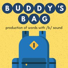 Boom Cards - Buddy's Bag: /b/ Words B Words, K 1, All Icon, Speech Therapy, Initials, Deck, Positivity, Author, Activities