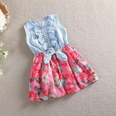 Matching Family Outfits Mother Daughter Matching Floral Dresses 2020 Sleeveless Floral Mom Kids Parent Short Dress Outfits Floral Print Skirt and Top Girls Bridesmaid Dresses, Dresses Kids Girl, Dress Shorts Outfit, Dress Outfits, Fashion Outfits, Fashion Kids, Baby Girl Jeans, Girls Jeans, Princess Outfits