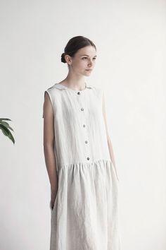 Muku linen summer house dress.