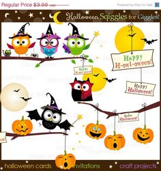70% OFF SALE HALLOWEEN Squiggles for Giggles  Png & por urbanwillow