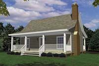 big front porch on small house