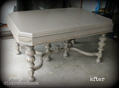 Pretty Distressed: Antique Kitchen Table