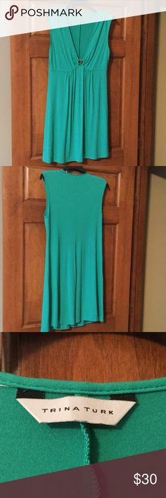 """Trina Turk Swim Cover-Up. Trina Turk Swim Cover-Up.   Green in Color.  Size Large.  Length is approximately 35"""".  Excellent Condition. Trina Turk Swim Coverups"""