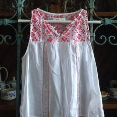 """Abercrombie & Fitch New York Blouse Details: This lovely is shear with coral and pink embroidery 100% cotton Size S (I feel fits XS best) Measures 20"""" from shoulder to hem Flawless Abercrombie & Fitch Tops Blouses"""