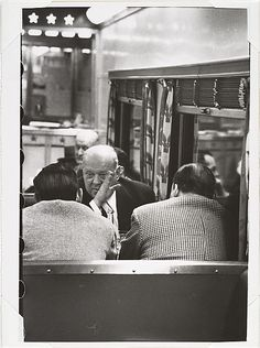 Men Talking Aboard the Congressional Limited]  Robert Frank  (American (born Switzerland), Zurich, 1924)