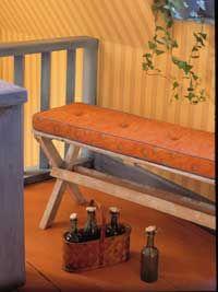 Korgstolar, pallar, bänkar och gamla kökssoffor... många hårdamöbler kan bli både mjukare och bekvämare med en tygklädd dyna.
