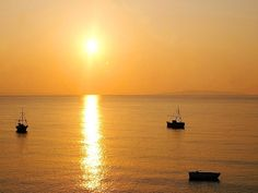 An amazing sunset in Tyros Greece.