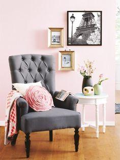 Zartes Rosé sorgt für einen romantischen Look in jedem Zimmer - toll als Wandfarbe!