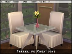 The Sims 4 | Treelife Creations GP03 Dine Out Vases Resized for Tables | buy mode deco plants