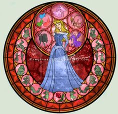 Kingdom Hearts Sleeping Beauty Stain Glass