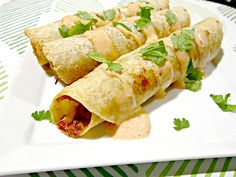 Chipotle Honey Balsamic Pulled Pork Taquitos with Chipotle Ranch Sauce