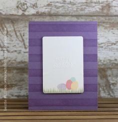 Happy Easter Card by Laurie Willison for Papertrey Ink (April 2014)