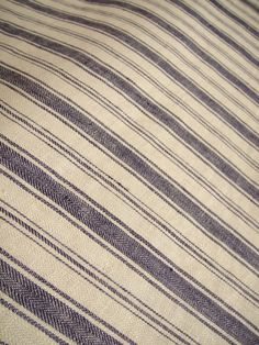 METERAGE French Belgian Linen ticking fabric by Libeco - Antibes Navy Blue Stripe. Price per 25cm interval. USD56 per metre. $14.00, via Etsy.