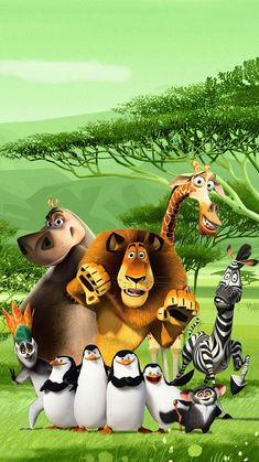 """Wallpaper for """"Madagascar: Escape 2 Africa"""" Dreamworks Animation, Disney And Dreamworks, Animation Film, Disney Animation, Disney Pixar, Madagascar Movie, Penguins Of Madagascar, Movie Wallpapers, Cute Cartoon Wallpapers"""