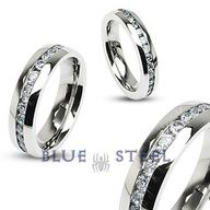 PIN IT TO WIN IT! Eternity :No other ring shows off your passion quite like our Eternity ring. Stainless Steel with a center stone design showcases your everlasting love.  $79.99  www.buybluesteel.com