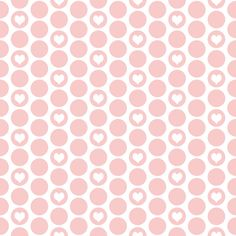 Valentine special: tiny hearts in rose polka dots on white by Su_G fabric by su_g on Spoonflower - custom fabric