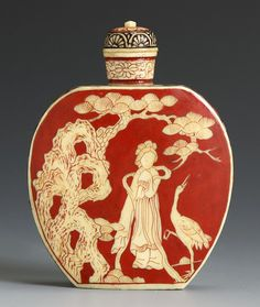 xx..tracy porter..poetic wanderlust...- Japanese Ivory Snuff Bottle for the Chinese Market