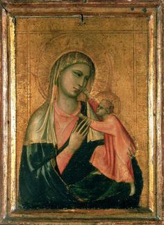 "Giotto di Bondone, born Angiolo di Bondone, also called Angiolotto, ca 1267–8Jan1337 | The Virgin and Child | The later 16th century biographer Giorgio Vasari says of him ""...He made a decisive break with the ...Byzantine style, and brought to life the great art of painting as we know it today, introducing the technique of drawing accurately from life, which had been neglected for more than two hundred years."""