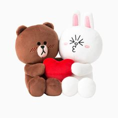 LINE FRIENDS Character BROWN&CONY Love Plush Couple Doll Toy 20cm Official Goods #LINEFRIENDS #DollswithClothingAccessories