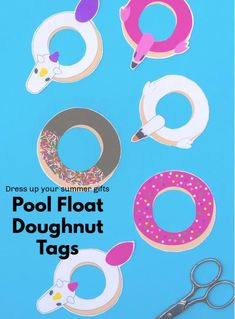 Celebrate National Doughnut Day 2020 with a free download of pool float doughnut tags Summer Gifts, Doughnut, Clever, Crafting, Symbols, Tags, Create, Sweet, Party