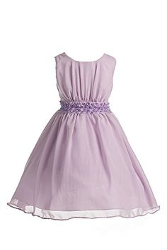 Joy Kids Girls Chiffon Special Occasion Flower Girl Formal Dress Lavender 12 -- Continue to the product at the image link.