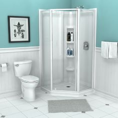 View Axis 38  Direct-To-Stud Corner Shower Wall Set (3 Pieces)