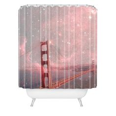 Bianca Green Stardust Covering San Francisco Shower Curtain | DENY Designs Home Accessories