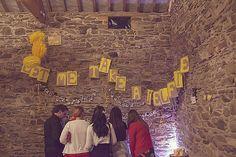 Hannah and Paul�s Woodstock Themed Yellow DIY Wedding. By Darren Mack