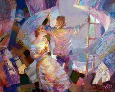 Tutt'Art@ | Pittura * Scultura * Poesia * Musica |: Evgeny Kouznetsov, 1960 ~ Romantic Lovers
