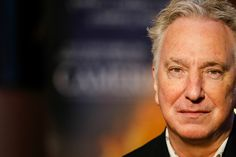 "crmediagal: "" Photographer: Leo Tolstoy "" Alan Rickman being interviewed at Camerimage in Poland (November 16, 2014) "" """