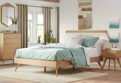 Get inspired by Modern & Contemporary Bedroom Design photo by AllModern. Wayfair lets you find the designer products in the photo and get ideas from thousands of other Modern & Contemporary Bedroom Design photos. Bedroom Furniture, Home Furniture, Bedroom Decor, Modern Furniture, Modern Bedroom Design, Contemporary Bedroom, Modern Contemporary, Upholstered Platform Bed, Bedroom Sets