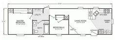 rufruf com - single wide manufactured home floor plan - use of space