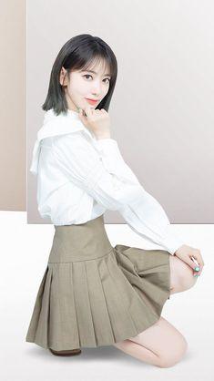 South Korean Girls, Korean Girl Groups, Sakura Miyawaki, Clothing Photography, Japanese Girl Group, Pretty And Cute, Preppy Style, Kpop Girls, Girl Crushes