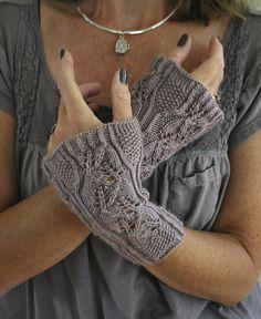 Ravelry: Lucia Cottage Garden Wristers pattern by Lynne Vogel