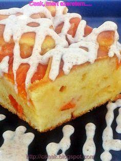 Csak, mert szeretem...  kreatív gasztroblog: EGYSZERŰ KEVERT SÁRGABARACKOS SÜTEMÉNY FAHÉJÖNTETT... Cheesecake, Food, Lasagna, Cheesecake Cake, Cheesecakes, Hoods, Meals, Cheesecake Bars