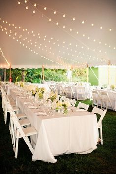 White tented reception: http://www.stylemepretty.com/rhode-island-weddings/2015/05/11/coastal-rhode-island-wedding/ | Photography: Lisa Frechette - http://www.lisafrechette.com/