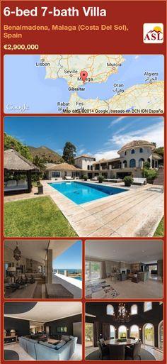 6-bed 7-bath Villa in Benalmadena, Malaga (Costa Del Sol), Spain ►€2,900,000 #PropertyForSaleInSpain