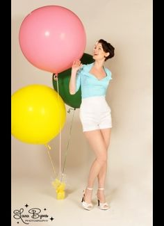 Doris Top in Baby Blue from Pinup Couture