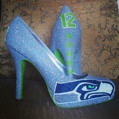 Www.etsy.com/shop/ceriseisabellamarie Silver Seattle Seahawks heels