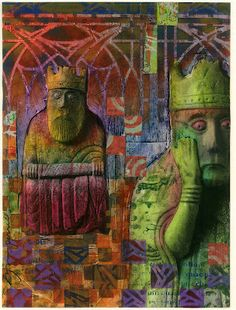 winter chess paintings | The Lewis Chessmen by Lynne Perrella. This color print is up for the ...