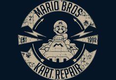 Mario Bros Kart  Repair  Artwork