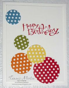 Tammie Stamps: Birthday Polka Dots Card