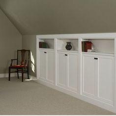 knee wall storage ideas | Uploaded to Pinterest