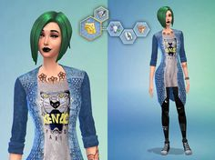 "You can download this character, finding me in the gallery The Sims 4. My name Origin ID - ""DISMOKEOFF"" ;)"