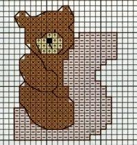Professione Donna: Schema punto croce: L'alfabeto con gli orsetti