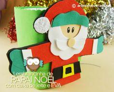 Lembrancinha de Papai Noel com caixa de leite e EVA http://artesanatobrasil.net/lembrancinha-de-papai-noel-com-caixa-de-leite-e-eva/  #artesanatonatal #artesanatoeva #natal #papainoeleva #papainoel #lembrancinhanatal #lembrancinhaeva